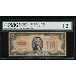 1928A $2 Legal Tender Star Note PMG 12