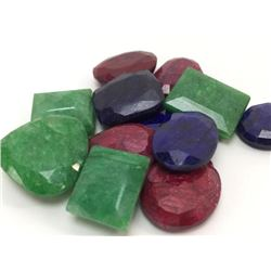186ctw Emeralds Rubies and Blue Sapphires Stones