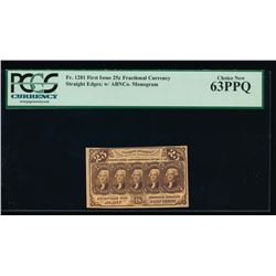 25 Cent Fractional Currency Note PCGS 63PPQ