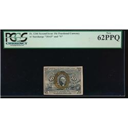 10 Cent Fractional Currency Note PCGS 62PPQ