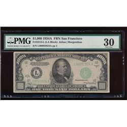 1934A $1000 San Francisco Federal Reserve Note PMG 30