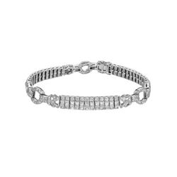 18KT White Gold 5.90ctw Diamond Bracelet