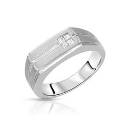 14KT White Gold 0.26ctw Diamond Ring