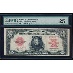 1923 $10 Legal Tender Poker Chip Note PMG 25