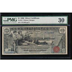 1896 $1 Silver Certificate PMG 30 Very Fine