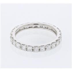 14KT White Gold 1.62ctw Diamond Wedding Band