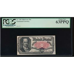 50 Cent Fractional Currency Note PCGS 63PPQ