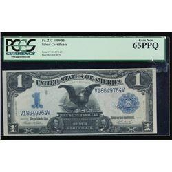 1899 $1 Black Eagle Silver Certificate PCGS 65PPQ