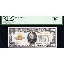 1928 $20 Gold Certificate PCGS 50