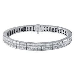 14KT White Gold 10.00ctw Diamond Bracelet