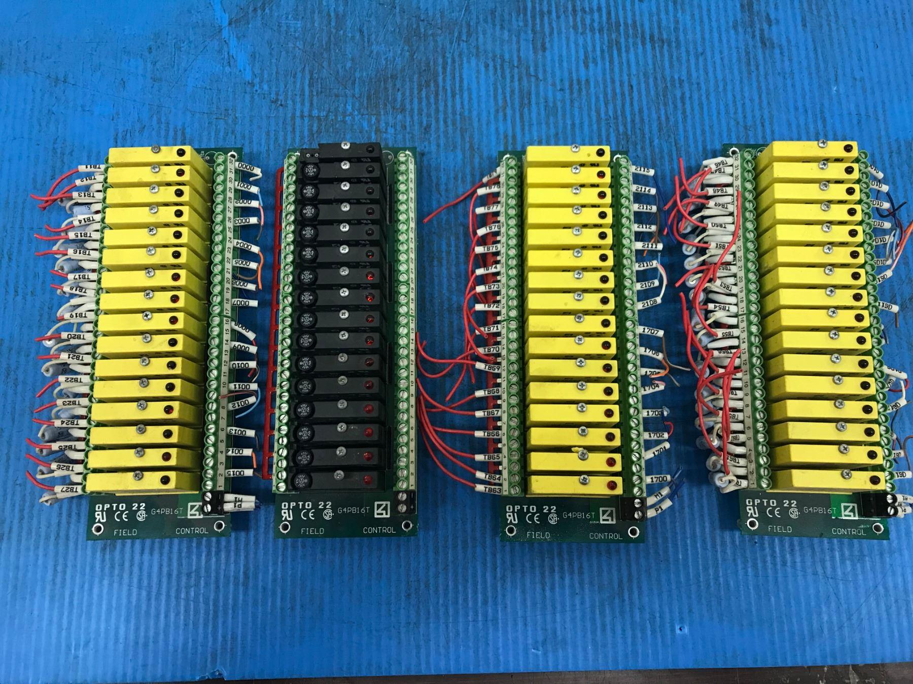 Opto 22 G4PB16T Field Control Module Board Mounting Rack W Input //Output Module