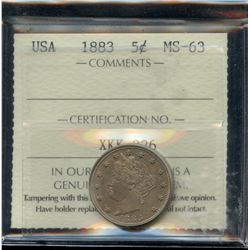 1883 USA Five Cents