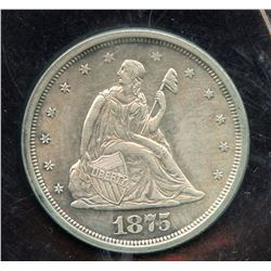 1875s USA Twenty Cents