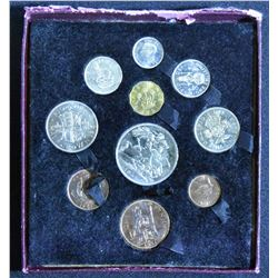 1951 George VI coin set festival of Britain in original case
