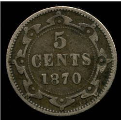 1870 Newfoundland Five Cents