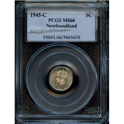 1945c Newfoundland Five Cents