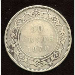 1870 Newfoundland Fifty Cents