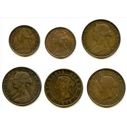 Lot of Six Maritime Decimal Coins.