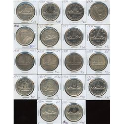 1935 to 1949 Silver Dollars - Lot of 18