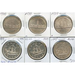 1949 Silver Dollars - Lot of 6