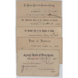 MARITIME bank postal stationery