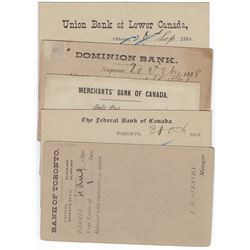 ONTARIO Bank Postal Stationery