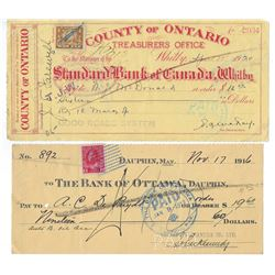 Lot of 10 CHEQUES