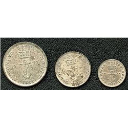 Lot of Three British Colonies Anchor Money.