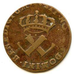Br. 506. 9 Deniers. 1722/1-H. (La Rochelle).