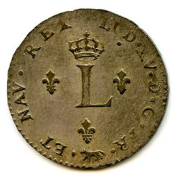 Br 508. Billon Double Sol of 24 Deniers. 1739 A. (Paris).