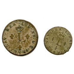 Lot of 2 French Coins.