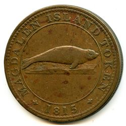 BR 520 Lower Canada Magdalen Island penny, 1815.