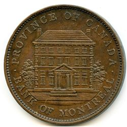 Br 526; Co 88; CH-PC-2A1 Bank of Montreal penny, 1837.
