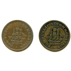Lot of Two Lower Canada Tokens.