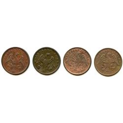 Lot of Four Spread Eagle Half Penny Tokens.