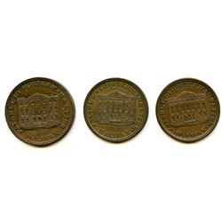 Lot of Three Hosterman & Etter Half Penny Tokens.