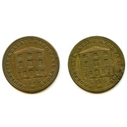 Lot of Two Nova Scotia Half Penny Tokens.