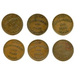 Lot of Eleven PEI Half Penny Tokens.
