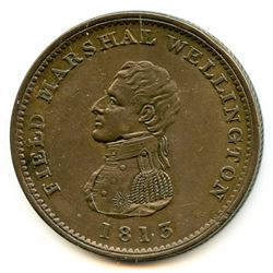 Br 974, CH-WE-3. Field Marshal Wellington, One Penny 1813.