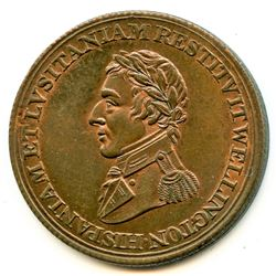 Br 987, CH-WE-11A2. Wellington Peninsular Half Penny.