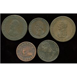 Lot of Five Wellington Tokens