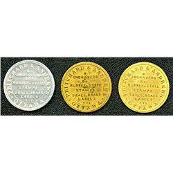 Lot of Three Pritchard & Andrews Tokens.