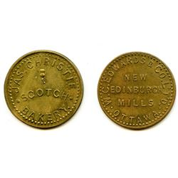 Lot of Two Ontario Tokens.