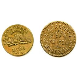 Lot of Two Post-Confederation Quebec Tokens.