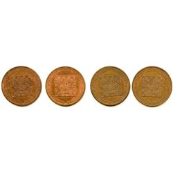 Lot of 4 Post-Confederation Quebec Tokens.