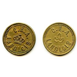 Lot of Three Post-Confederation Quebec Tokens.