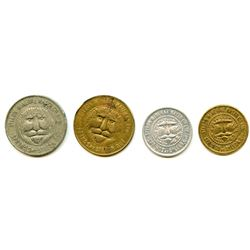 Lot of Four Post-Confederation Quebec Tokens.