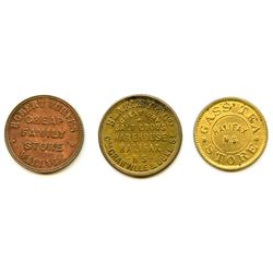 Lot of Three Nova Scotia Tokens.