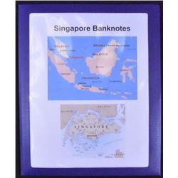 Singapore Banknote Collection - Neatly housed in folder. Catalogue value exceeds $150.