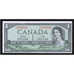 Bank of Canada $1, 1954 - Devil's Face Variety